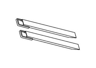 Black and white outline image of two long parallel plates